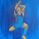 blue atlet 2, 25x30cm
