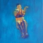 blue atlet, 25x30cm