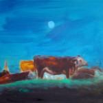 Kráva, 40x50cm