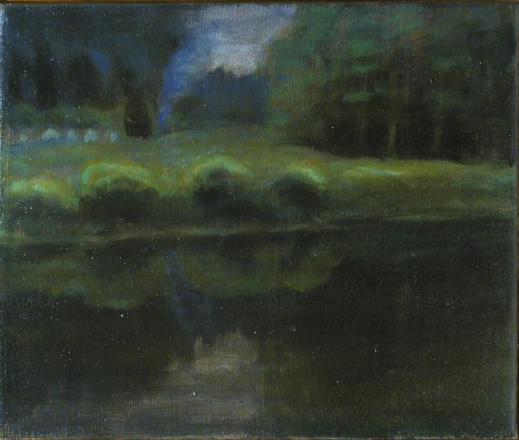 jezero, 30x25cm