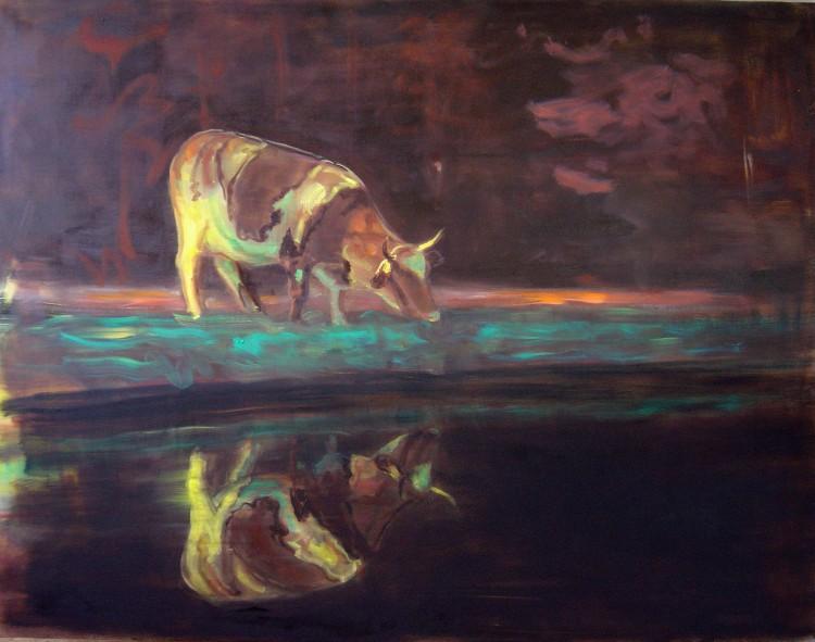 Krávy2, 140x180cm