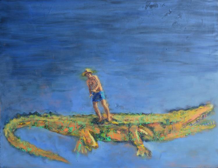 krokodýl dundee, 80x100cm