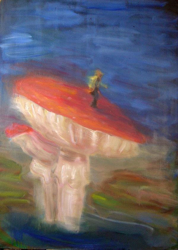 Na houbě, 115x160cm