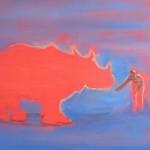 nosorožec, 50x70cm
