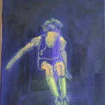violet atlet, 25x30cm
