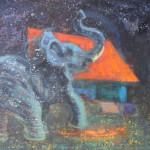 Slon,130x160cm