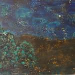 Noční krajina, 120x150cm
