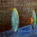 Vodáci, 120x150cm