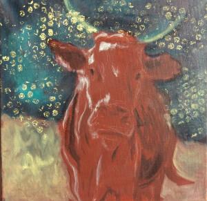 kráva, 30x30cm